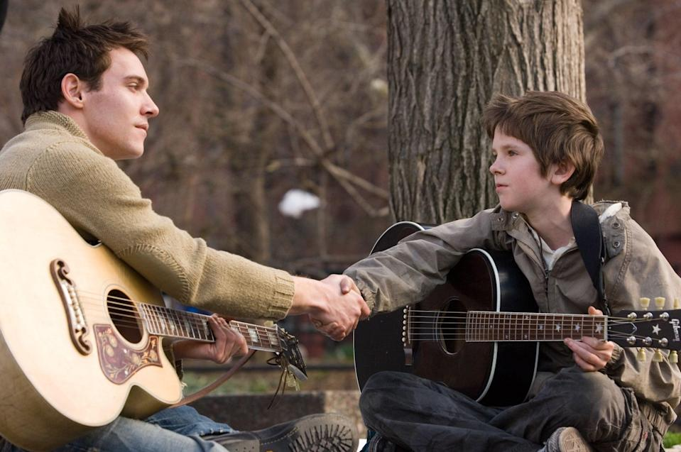 """<p><strong>HBO Max's Description:</strong> """"A musically gifted orphan, Evan, runs away from his orphanage and searches New York City for his birth parents. On his journey, he's taken under the wing of the Wizard, a homeless man who lives in an abandoned theater. After discovering his talent, the Wizard gives Evan the name August Rush and devises a plan to profit from his talent. Little does Evan know that his parents, Lyla and Louis, are searching for him too.""""</p> <p><a href=""""https://play.hbomax.com/feature/urn:hbo:feature:GXmbKrgOvVDC3wwEAACzt"""" class=""""link rapid-noclick-resp"""" rel=""""nofollow noopener"""" target=""""_blank"""" data-ylk=""""slk:Watch August Rush on HBO Max here!"""">Watch <strong>August Rush</strong> on HBO Max here!</a></p>"""