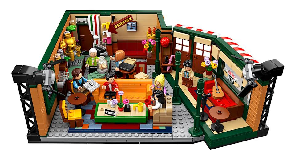 "To celebrate <em>Friends </em>25th anniversary Lego released a Central Perk set complete with all seven characters. Could we BE anymore excited? Suitable for ages 16+. <a href=""https://fave.co/2neFhxJ"" rel=""nofollow noopener"" target=""_blank"" data-ylk=""slk:Shop here."" class=""link rapid-noclick-resp"">Shop here.</a>"