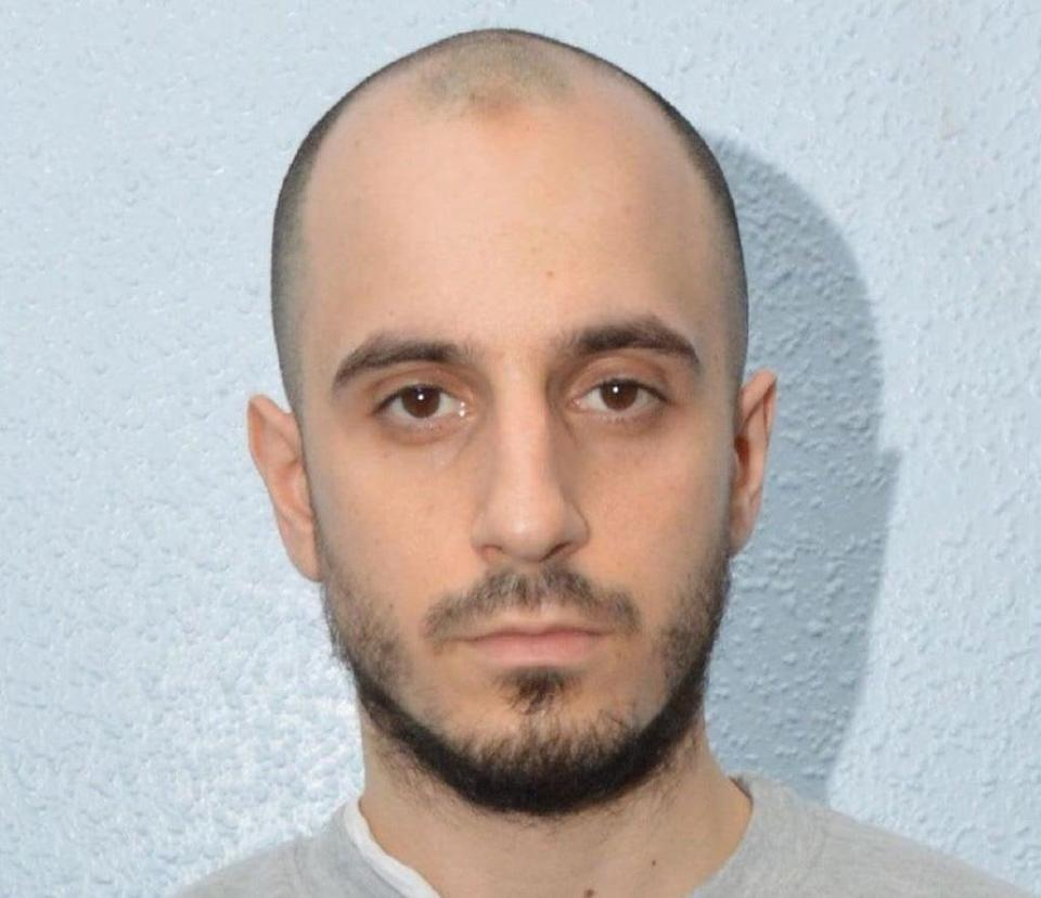 Stefan Aristidou was jailed for two years and four months for sharing so-called Islamic State propaganda online (Metropolitan Police/PA)