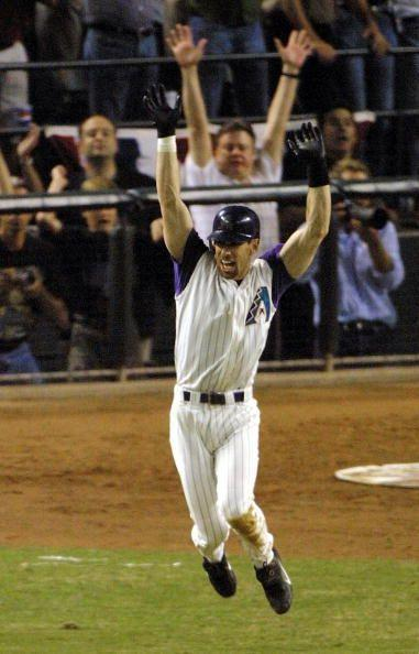 """<p><strong>November 4, 2001</strong>: Arizona Diamondbacks outfielder Luis Gonzalez hit 57 home runs in 2001, but it was a blooped single behind second base that went down as his most important hit of a memorable year. The single, off Yankees close extraordinaire Mariano Rivera, drove in the winning run in Game 7 of the '01 World Series, among the most dramatic Series ever.<br><br>With three games in New York just 7 weeks after the terrorist attacks of Sept. 11, the Series pitted the explosive Yankee offense against Arizona pitchers Curt Schilling and Randy Johnson. The two starters combined for a 1.40 ERA and all four wins, including three by Johnson.<br><br>But the final act belonged to Gonzalez.<br><br>""""He told me later that was like an out-of-body experience,"""" former Diamondbacks GM Joe Garagiola Jr. told the <em>The</em> <em>Denver Post</em>. """"It was just like he dreamed as a little boy in Tampa—except he was supposed to be winning the game for the Yankees.""""<br> </p>"""
