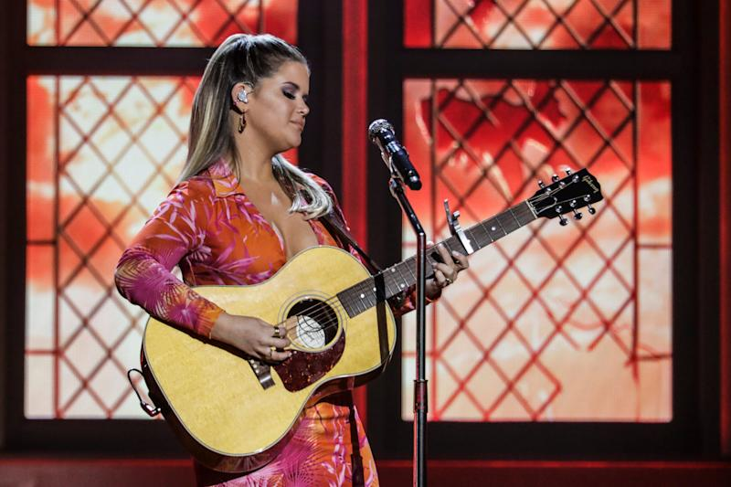 Maren Morris performs during the 55th Academy of Country Music Awards on Sept. 16, 2020.