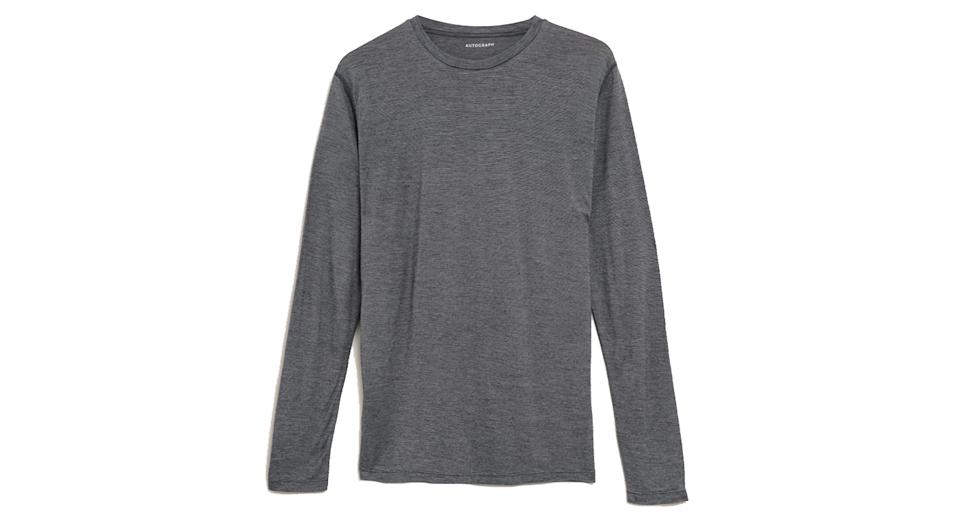 Light Warmth Wool Long Sleeve Thermal Top