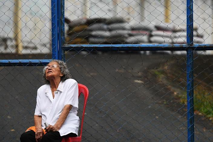 """Anastacia Morales demands justice for her grandson captured by police and paramilitary forces and held in a cell at """"El Chipote"""" prison (AFP Photo/MARVIN RECINOS)"""