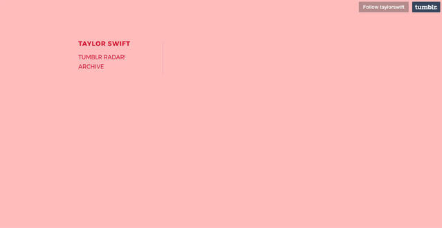 Taylor Swift's Tumblr has been wiped. (Photo: Taylor Swift)