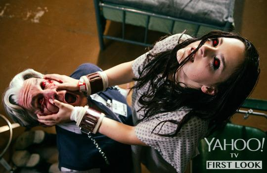 """<p>For two full seasons, Kate has avoided becoming a culebra. But now? Well, we're not sure <i>what </i>that pool of sacred blood has turned her into, but it can't be good.<br></p><p><b> Robert Rodriguez's Take:</b> """"As Season 3 unfolds, Kate Fuller — once a Bible-thumping teenager from small-town Texas — finds herself transformed by something dark and powerful. She's not the sweet girl we met in Season 1."""" <br></p><p><i>(Photo: Robert Rodriguez/El Rey Network and Miramax)</i><br></p>"""