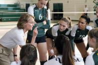 """<p>Inspired by the true story of Iowa City's undefeated West High School volleyball team, the girls must rally together after the death of star teammate Caroline """"Line"""" Found. With their hearts set on winning the state tournament, coach Kathy Bresnahan encourages her team to play for Line, which ultimately leads to a 14-game winning streak.</p> <p><a href=""""http://www.hulu.com/movie/the-miracle-season-ef17e19c-2743-4bde-93fc-6dcc88a634a1"""" class=""""link rapid-noclick-resp"""" rel=""""nofollow noopener"""" target=""""_blank"""" data-ylk=""""slk:Watch The Miracle Season on Hulu."""">Watch <strong>The Miracle Season</strong> on Hulu.</a></p>"""