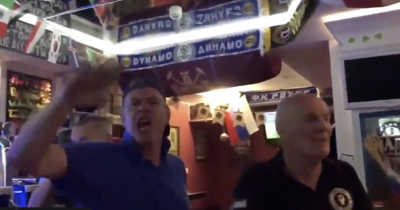 English fans were filmed performing Nazi salutes at Russia bar during World
