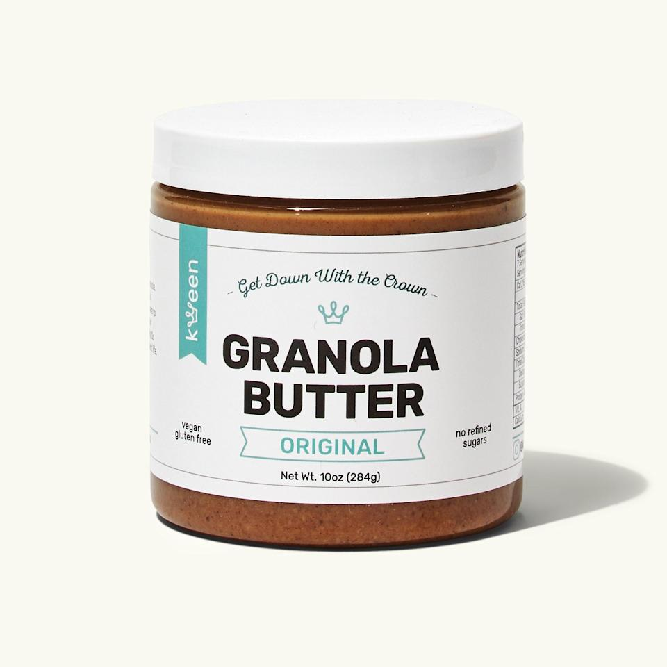 """<p>""""Imagine having a spoonful of nut butter and cinnamon oatmeal at the same time. There's a bunch of great ingredients in there too: gluten-free oats, flax, olive oil, coconut oil…""""</p> <p><em>Buy it: <a rel=""""nofollow noopener"""" href=""""https://getintothebubble.com/products/original-granola-butter"""" target=""""_blank"""" data-ylk=""""slk:Kween Granola Butter, $13."""" class=""""link rapid-noclick-resp"""">Kween Granola Butter, $13.</a></em></p>"""
