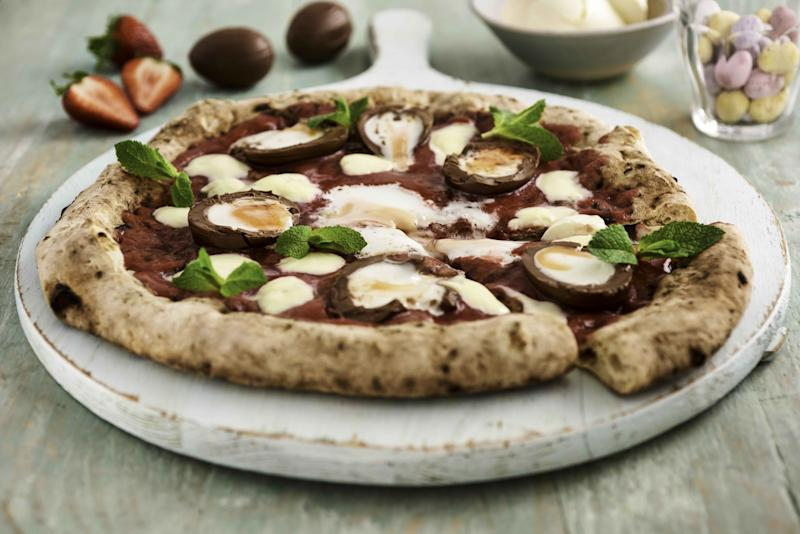 Creme Egg pizza, yay or nay? [Photo: Deliveroo]