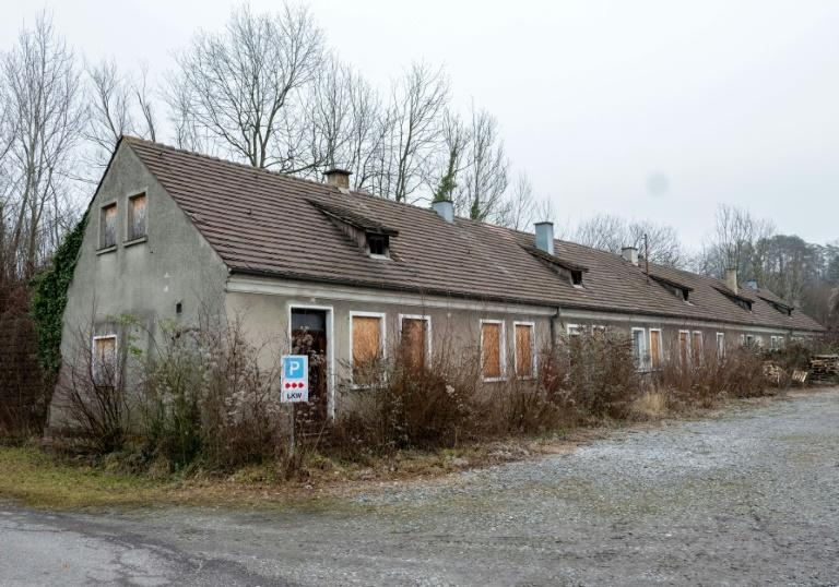 A former command house at the site of the Gusen death camp (AFP Photo/JOE KLAMAR)