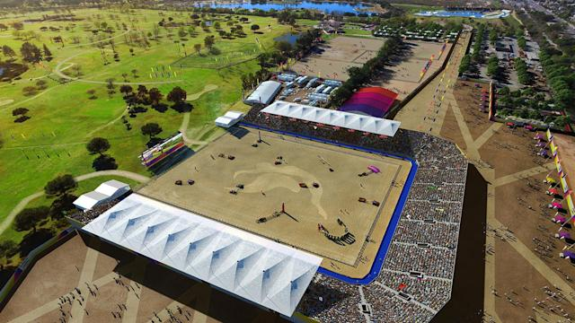 <p>Olympic and Paralympic Equestrian is shown in this rendering of Valley Sports Park. (Photo: Courtesy LA 2024) </p>