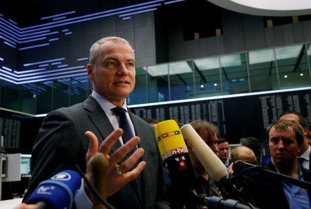 FILE PHOTO: Carsten Kengeter, CEO of Deutsche Boerse attends the launch of an initial public offering  at the stock exchange in Frankfurt, Germany March 1, 2017.  REUTERS/Ralph Orlowski/File Photo