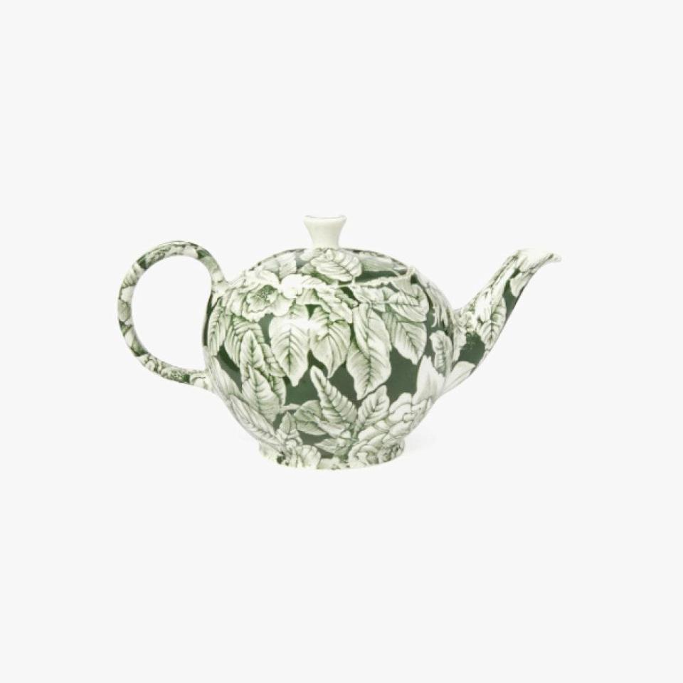 """Give teatime an upgrade with this kettle by Soho Home. $89, SOHO HOME. <a href=""""https://www.sohohome.com/us/products/burleigh-hibiscus-teapot/75717139"""" rel=""""nofollow noopener"""" target=""""_blank"""" data-ylk=""""slk:Get it now!"""" class=""""link rapid-noclick-resp"""">Get it now!</a>"""