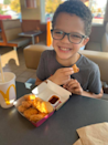 """<p>After finishing up a meal, """"Mom, I think I know what it feels like when a mom has a baby in her tummy. (Sticks out belly) Because I just ate three sloppy joes and I am FULL. I think it's pretty much the same.""""</p>"""