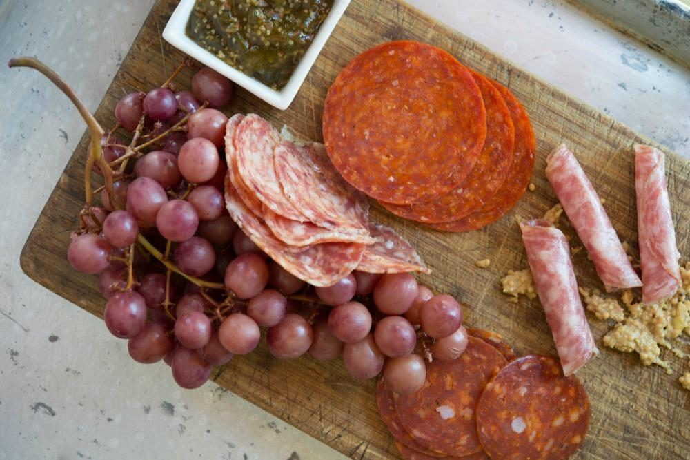"""<p>""""Holidays are when I like to let my hospitality shine. By keeping some deli-bought charcuterie and <a href=""""http://www.ediblefeast.com/recipes/charcuterie-board"""">these home-made condiments</a> on hand, I can wow any guest at a moment's notice."""" –Justin Warner, <i><a href=""""http://www.amazon.com/The-Laws-Cooking-Break-Them/dp/1250065135"""">The Laws of Cooking: And How to Break Them</a></i></p><p><i>(Photo: Daniel Krieger)<br /></i></p>"""