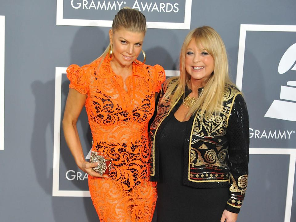 Fergie and her mom, Grammys
