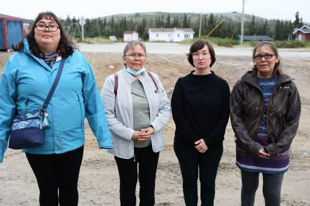 The family of Burton Winters says the Department of National Defence didn't do everything it could have after he was reported missing on Jan. 29, 2012. From left: Joan Winters, his aunt; Edna Winters, his grandmother; stepmother Natalie Jacque; and his mother, Paulette Rice.  (Heidi Atter/CBC - image credit)