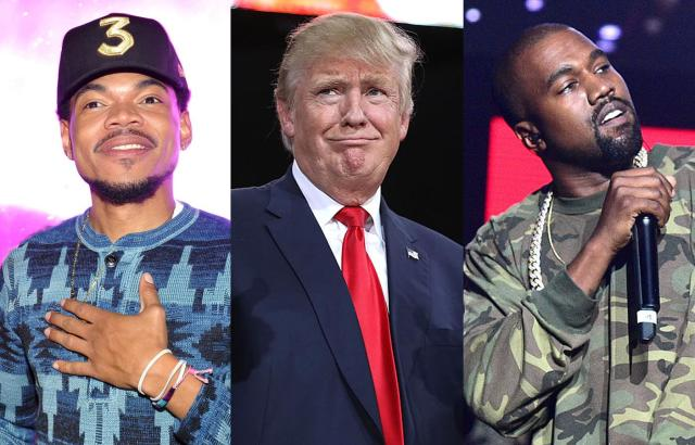 Chance the Rapper apologizes for defending Kanye West after getting praised by President Trump. (Photos: Getty Images)