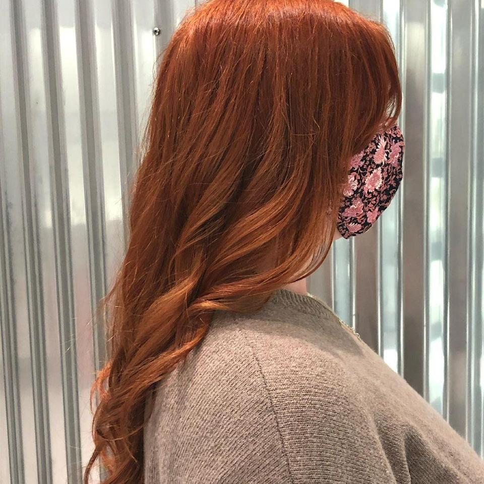 """The red trend is not slowing down anytime soon, and Jimieson loves a bold take on the shade. """"It's vibrant and edgy without going super light or super dark and is great for someone who wants to be noticed and wear a signature hair color that is bold and bright."""" He says to ask for permanent dye since red notoriously fades very quickly, and to add a colored glaze on top for even more longevity."""