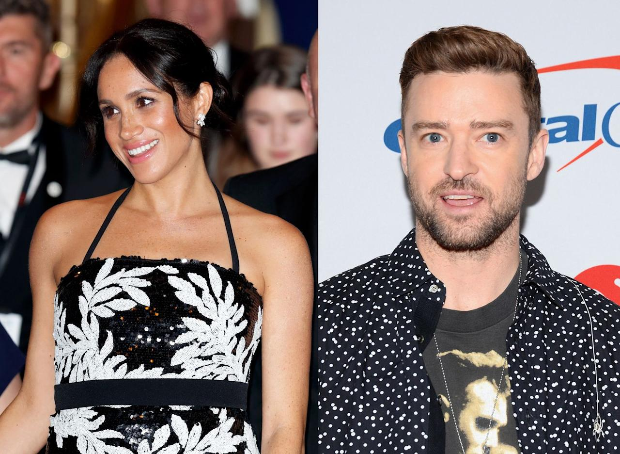<p>Yep, JT and the Duchess of Sussex were both born in 1981, which makes them both 38 and just a few months older than Prince Harry's older brother, Prince William. </p>