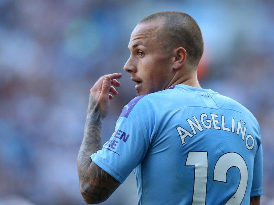 Angelino in action for Manchester City in 2019Getty Images