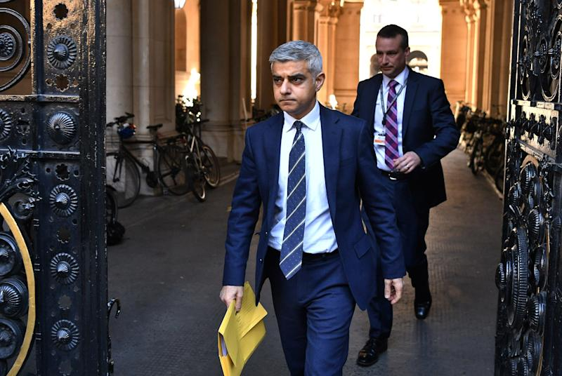 Sadiq Khan is considering new restrictions for London (Getty Images)