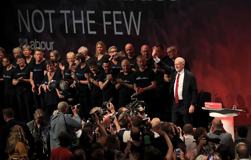 Jeremy Corbyn at Labour's party conference. (Photo: PA Wire/PA Images)