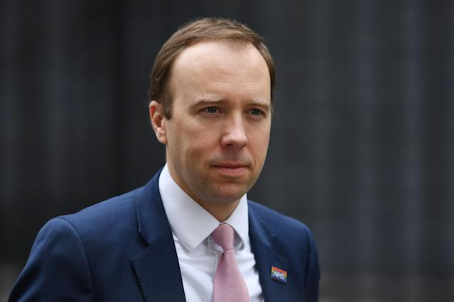 Matt Hancock said the government was currently attempting to trace the virus's path. (Getty)