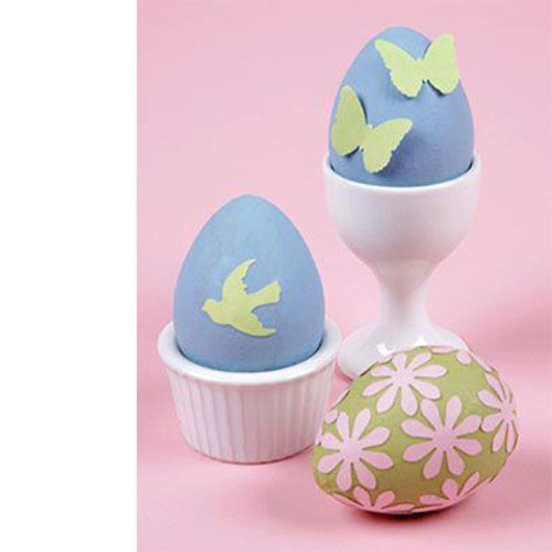 "<p>This decorating method is easy for all ages and makes for easy cleanup. It's too simple!</p><p><em><a href=""https://www.womansday.com/home/crafts-projects/how-to/a3479/punched-paper-easter-egg-craft-63831/"" rel=""nofollow noopener"" target=""_blank"" data-ylk=""slk:Get the Punched Paper Easter Egg Craft tutorial."" class=""link rapid-noclick-resp"">Get the Punched Paper Easter Egg Craft tutorial.</a></em> </p>"