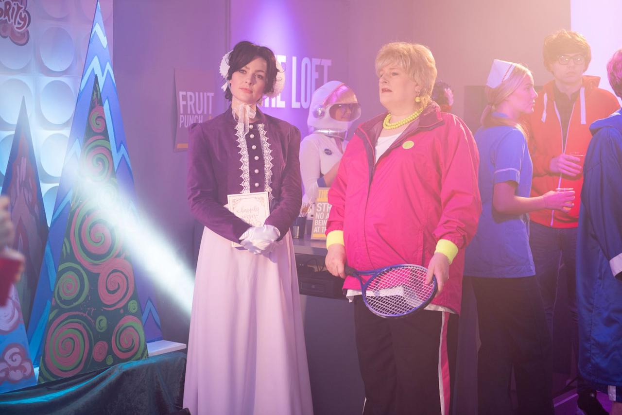 <p>Sienna is dressed as Jane Austen, while Sally is Judy Murray.</p>