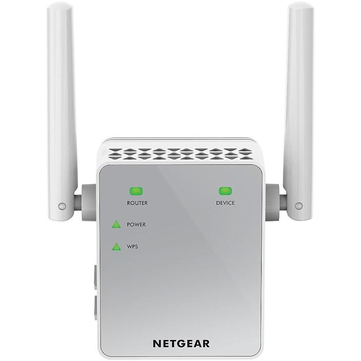 The Netgear AC750 Wi-Fi Range Extender - Essentials Edition ($39) can help you bring life to W-Fi 'dead zones' in your place.