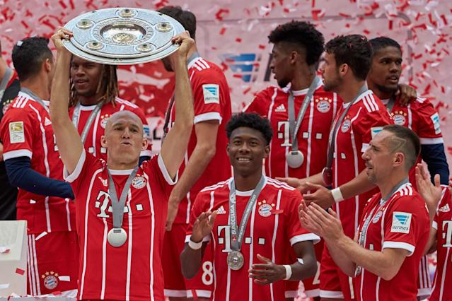 Bayern Munich comfortably won its fifth consecutive German Bundesliga title in 2016-17, and will win a sixth in 2017-18. (Getty)