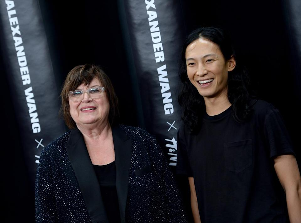 <p>H&M's creative advisor Margareta van den Bosch and Alexander Wang</p>