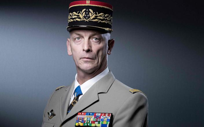 French armed forces chief of staff General Francois Lecointre poses during a photo session in Paris on April 27, 2021 - JOEL SAGET/AFP