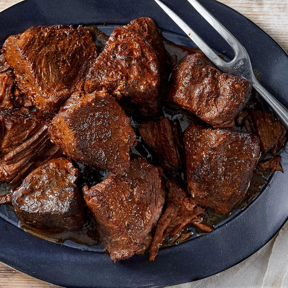 <p>This versatile pressure-cooked beef roast can be eaten immediately or used to create beef tacos, barbecue beef sandwiches, or beef and noodles.</p>