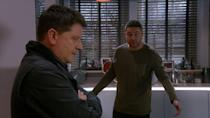 <p>He decides to tell Aaron about Liv's recent seizure.</p>