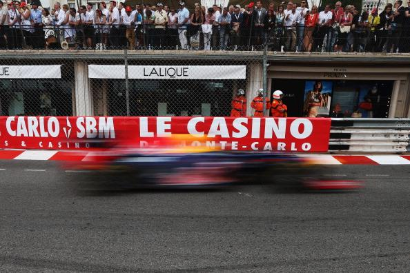 Sebastian Vettel of Germany and Red Bull Racing drives during the Monaco Formula One Grand Prix at the Circuit de Monaco on May 27, 2012 in Monte Carlo, Monaco. (Photo by Mark Thompson/Getty Images)