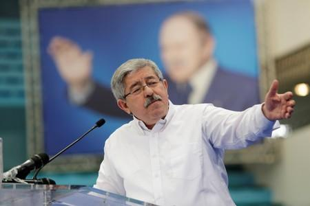 FILE PHOTO: Ahmed Ouyahia, leader of Rally for National Democracy (RND), gives a speech during a parliamentary election campaign in Algiers