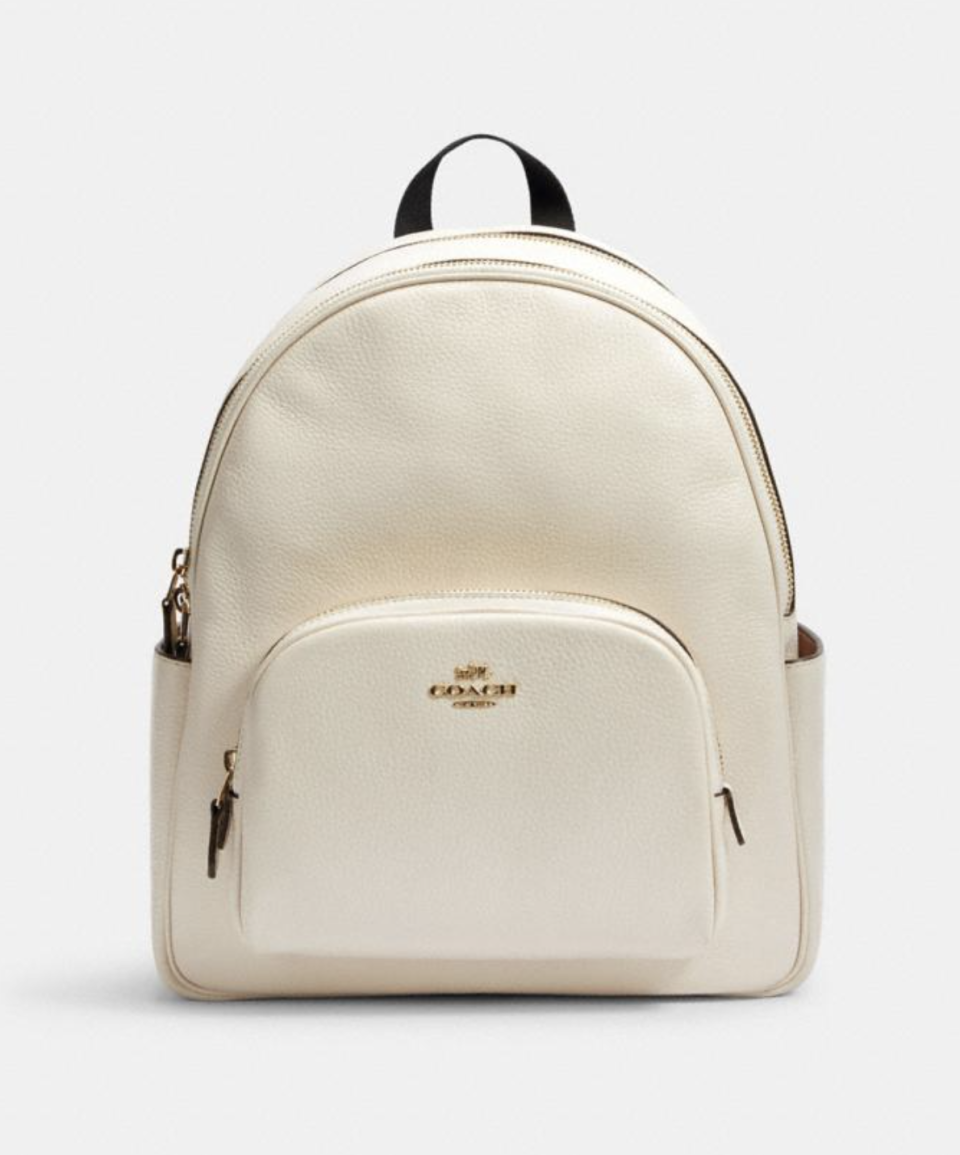 Court Backpack in Chalk (Photo via Coach Outlet)