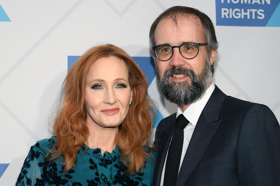 J.K. Rowling and doctor husband Neil Murray arrives at the RFK Ripple of Hope Awards at New York Hilton Midtown on December 12, 2019