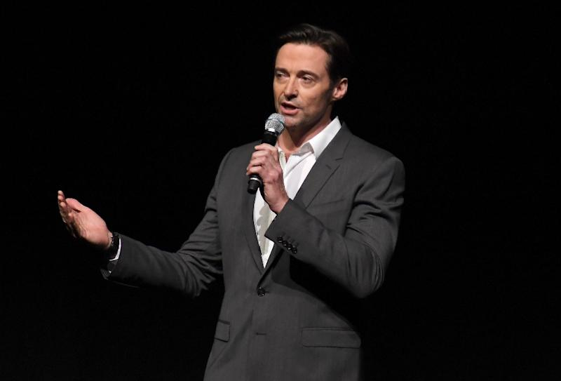Actor Hugh Jackman speaks onstage at CinemaCon 2017 at The Colosseum in Las Vegas, on March 30, 2017 in Las Vegas, Nevada
