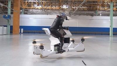 The future of transportation is here with this flying motorcycle.