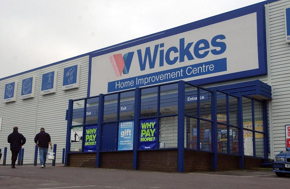 Wickes Home Improvement Centre at Cribbs Causeway near Bristol. Photo: PA