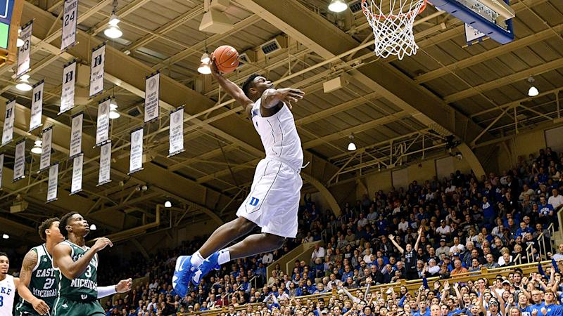 No. 1 Duke soars to blowout win