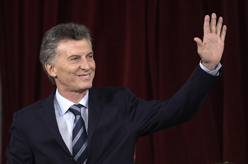 Argentina President Mauricio Macri (pictured), his father, and brother Mariano were on the board of directors of an offshore company registered in the Bahamas since 1998, the daily La Nacion reported (AFP Photo/Juan Mabromata)
