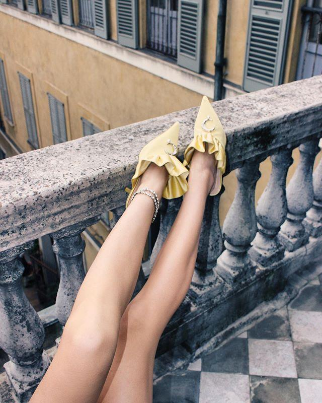 """<p>Rather than bright-white or terra-cotta tan, this buttery pale yellow is the new neutral this summer. Sure, we love a bright hue especially in footwear, but it's nice to refresh our arsenal of neutrals too.</p><p><a href=""""https://www.instagram.com/p/B993ivhqERT/?utm_source=ig_web_copy_link"""" rel=""""nofollow noopener"""" target=""""_blank"""" data-ylk=""""slk:See the original post on Instagram"""" class=""""link rapid-noclick-resp"""">See the original post on Instagram</a></p>"""