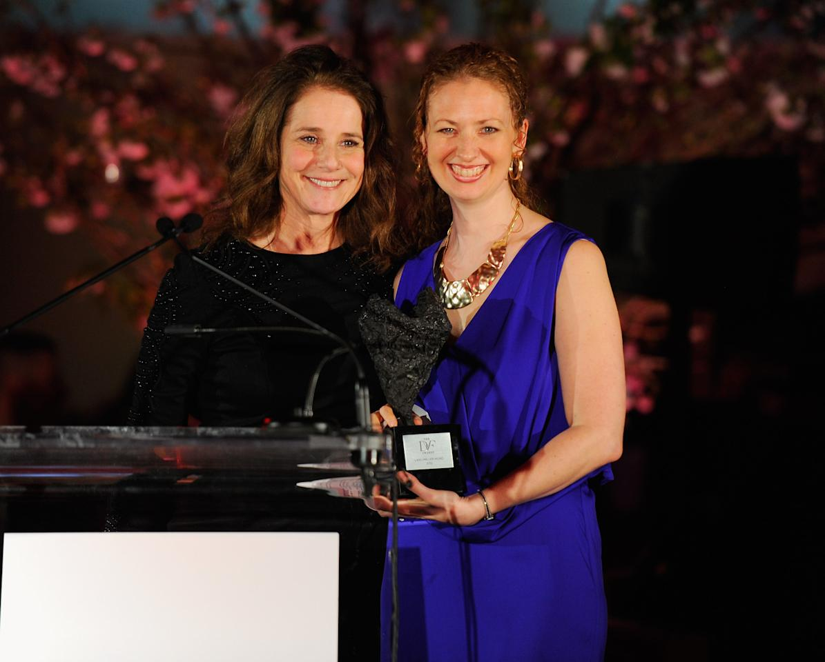 NEW YORK, NY - MARCH 09:  Debra Winger and Layli Miller-Muro pose onstage at the 3rd annual Diane Von Furstenberg awards at the United Nations on March 9, 2012 in New York City.  (Photo by Andrew H. Walker/Getty Images)