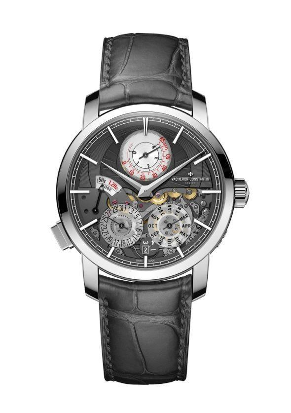 """<p>Traditionnelle Twin Beat Perpetual Calendar </p><p><a class=""""link rapid-noclick-resp"""" href=""""https://search.watches-of-switzerland.co.uk/search?w=vacheron+constantin"""" rel=""""nofollow noopener"""" target=""""_blank"""" data-ylk=""""slk:SHOP"""">SHOP</a></p><p>Not only is this an absolutely stunning piece of watchmaking, it will run for over two months, thanks to a clever 'standby mode' triggered by a pusher located at on the case at 7.00. The Vacheron Constantin Traditionnelle Twin Beat Perpetual Calendar includes an ultra-long power reserve when the watch is not in use, meaning the perpetual calendar needs no adjustment even if the piece has been packed away for 65 days. That's an ingenious innovation, but we're equally taken with this watch's striking looks: the hand-guilloché slate-coloured gold and transparent sapphire dial, the 18k gold markers and the beautiful symmetry for such a highly complicated piece. </p><p>£155,000; <a href=""""http://www.vacheron-constantin.com/en/home.html"""" rel=""""nofollow noopener"""" target=""""_blank"""" data-ylk=""""slk:vacheron-constantin.com"""" class=""""link rapid-noclick-resp"""">vacheron-constantin.com</a></p>"""