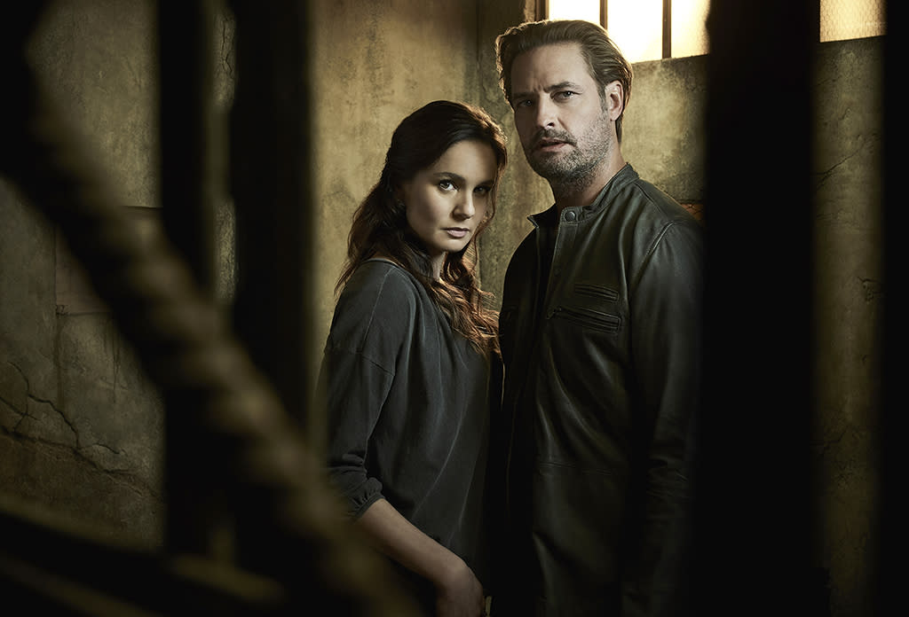 """<p><b>This Season's Theme: </b> """"Last season we showed an alien occupation in its nascent stages,"""" executive producer Ryan Condal says. """"Season 2 will show the darker more authoritarian view of occupation and colonization."""" <br /><br /><b>Where We Left Off: </b> Katie (Sarah Wayne Callies) and the resistance captured an alien, presumably killed it, and extracted the mysterious """"gauntlet"""" from his body suit, but not before former FBI agent turned reluctant collaborator Will (Josh Holloway) tracked them down and realized the extent of his wife's betrayal. <br /><br /><b>Coming Up: </b> """"This otherwise strong family was blown apart by external forces,"""" says Condal. """"Katie is broken by the consequences of her actions and isolated from everyone she cares about including the resistance, and Will, who is off trying to get Charlie back home."""" Not that they will be separated for long. """"Will knew he married a rebel and loves her for that, but feels betrayed because she was working both sides,"""" says Holloway. """"Their love is still there. They're bent, not broken."""" <br /><br /><b>The Struggle Is Real: </b> Brexit, Syria, Russian hacking, and the brutal presidential campaign has made <i>Colony</i> feel """"depressingly more and more relevant"""" to Condal. The eerie tonal similarities hit an apex when the finale shoot coincided with election night. """"That night, oh my god, I didn't even have to act,"""" Holloway recalls. """"My line was like, 'We gotta get out of this block, guys.' Jesus, I felt just like that. That was a tough pill to swallow and still is."""" <i>— CB</i> <br /><br />(Credit: Justin Stephens/USA Network) </p>"""