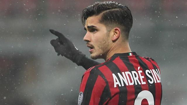 Andre Silva was again named on the bench for AC Milan but the club have made it clear they do not wish to sell him.